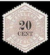 Nederland NL TG6  1877 Betaling telegraaf 20 cent  Gestempeld