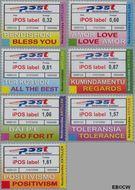 Nederlandse Antillen NA 1881#1887  2007 IPOS labels 275 cent  Postfris