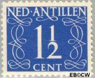 Nederlandse Antillen NA 212  1950 Type 'van Krimpen'  1½ cent  Gestempeld