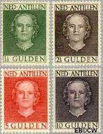 Nederlandse Antillen NA 230#233  1950 Type 'En Face'  cent  Gestempeld