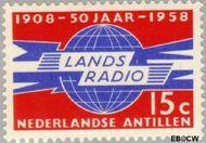 Nederlandse Antillen NA 292  1958 Landsradio 15 cent  Gestempeld