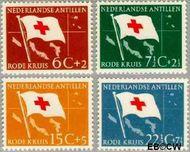 Nederlandse Antillen NA 293#296  1958 Rode Kruis en Ned. Antillen  cent  Gestempeld