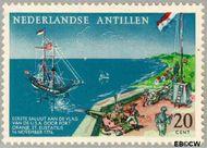 Nederlandse Antillen NA 322  1961 Begroeting vlag USA 20 cent  Gestempeld