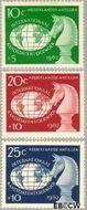 Nederlandse Antillen NA 330#332  1962 Kandidatentoernooi schaken  cent  Gestempeld
