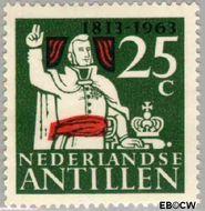 Nederlandse Antillen NA 343  1963 Onafhankelijkheid Nederland 25 cent  Gestempeld