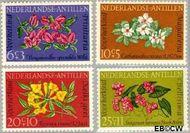 Nederlandse Antillen NA 347#350  1964 Bloemen  cent  Gestempeld