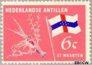 Nederlandse Antillen NA 363  1965 Eilanden 6 cent  Gestempeld