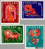 Nederlandse Antillen NA 389#392  1967 Nanzi-verhaal 20+10 cent  Gestempeld