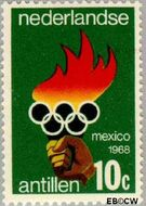 Nederlandse Antillen NA 393  1968 Olympische Spelen- Mexico 20 cent  Gestempeld
