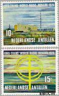 Nederlandse Antillen NA 421#422  1970 Zendstation Bonaire  cent  Gestempeld