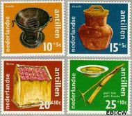 Nederlandse Antillen NA 436#439  1971 Voorwerpen  cent  Gestempeld