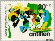 Nederlandse Antillen NA 453  1972 Muziek 20+10 cent  Gestempeld