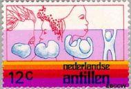 Nederlandse Antillen NA 513  1975 Internationaal Jaar van de Vrouw 12 cent  Gestempeld