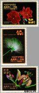 Nederlandse Antillen NA 545#547  1977 Bloemen  cent  Gestempeld