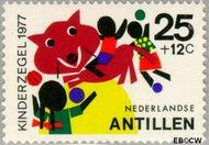 Nederlandse Antillen NA 553  1977 Fantasie-dieren 25+12 cent  Gestempeld