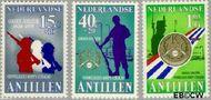 Nederlandse Antillen NA 630#632  1979 Vrijwilligers Korps  cent  Gestempeld