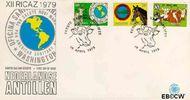 Nederlandse Antillen NA E120  1979 Vergadering P.A.H.O. 40+20 cent  FDC zonder adres