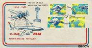 Nederlandse Antillen NA E13  1959 Luchtverbinding Nederland 2 cent  FDC zonder adres