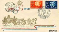 Nederlandse Antillen NA E19  1962 Huwelijksjubileum Juliana en Bernhard 10 cent  FDC zonder adres