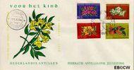 Nederlandse Antillen NA E31  1964 Bloemen 10 cent  FDC zonder adres