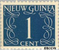 Nieuw-Guinea NG 1  1950 Type 'van Krimpen' 1 cent  Gestempeld