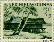 Nieuw-Guinea NG 41  1957 Leprabestrijding 5+5 cent  Gestempeld