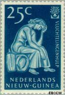 Nieuw-Guinea NG 61  1960 Vluchtelingenjaar 25 cent  Gestempeld