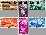 SPA 1129#1134 Postfris 1958 Spoorwegcongres