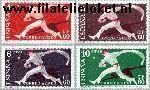 SPA 1183#1186 Postfris 1960 Postzegeltentoonstelling Barcelona