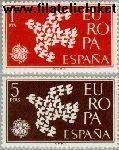 SPA 1266#1267 Postfris 1961 C.E.P.T.- Duiven in vlucht