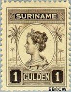 Suriname SU 101  1913 Palmtype 100 cent  Gestempeld