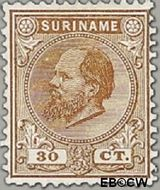 Suriname SU 11  1888 Eerste emissie 30 cent  Gestempeld