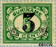 Suriname SU 111  1925 Hulpuitgifte 3 op 5 cent  Gestempeld