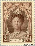Suriname SU 122  1927 Gewijzigd jubileum-type 21 cent  Gestempeld