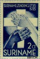 Suriname SU 152  1935 Zendingswerk 2+1 cent  Gestempeld