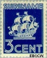 Suriname SU 162  1936 Scheepje 3 cent  Gestempeld