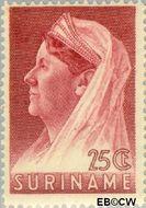 Suriname SU 172  1936 Wilhelmina met sluier 25 cent  Gestempeld