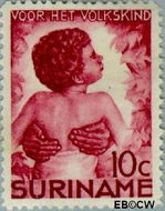 Suriname SU 182  1936 Kinderen 10+5 cent  Gestempeld