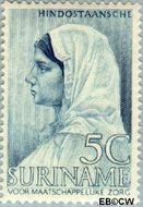 Suriname SU 192  1940 Leprabestrijding 5+3 cent  Gestempeld