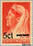 Suriname SU 212  1945 Koningin Wilhelmina 5 op 10 cent  Gestempeld