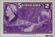 Suriname SU 222  1945 Wilhelmina en landschappen 2 cent  Gestempeld