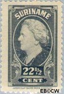 Suriname SU 232  1945 Koningin Wilhelmina 22½ cent  Gestempeld