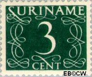 Suriname SU 253  1948 Cijferzegels 3 cent  Gestempeld