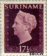 Suriname SU 263  1948 Koningin Wilhelmina 17½ cent  Gestempeld