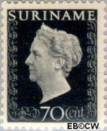 Suriname SU 273  1948 Koningin Wilhelmina 70 cent  Gestempeld