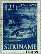 Suriname SU 303  1953 Inheemse voorstellingen 12½ cent  Gestempeld