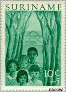 Suriname SU 313  1954 Jeugdwerk 10+5 cent  Gestempeld