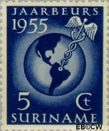 Suriname SU 323  1955 Jaarbeurs te Paramaribo 5 cent  Gestempeld