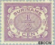 Suriname SU 41  1902 Drukwerkzegel ½ cent  Gestempeld