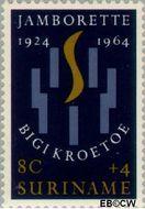 Suriname SU 411  1964 Jamborette 8+4 cent  Gestempeld